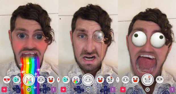 Snapchat nuove animazioni selfie