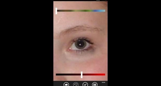fix red eye windows phone