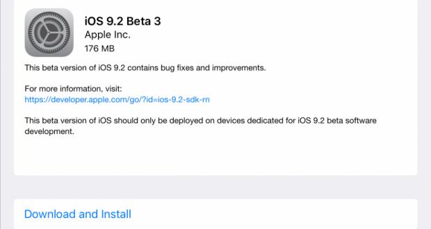 iOS 9.2 Beta 3