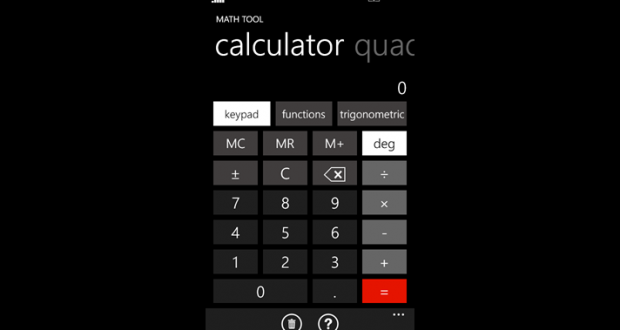 math tool windows phone