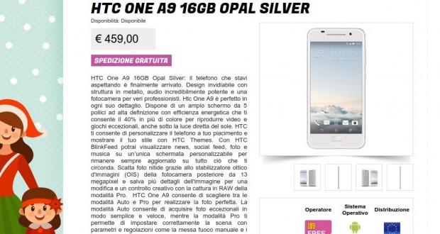 HTC One A9 16GB Opal Silver   Gli Stockisti  Smartphone  cellulari  tablet  accessori telefonia  dual sim e tanto altro