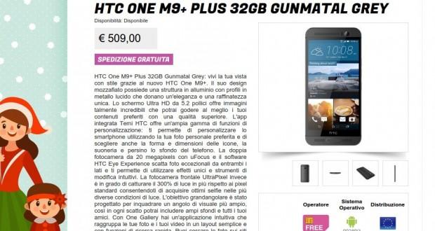 HTC One M9  Plus 32GB Gunmatal Grey   Gli Stockisti  Smartphone  cellulari  tablet  accessori telefonia  dual sim e tanto altro