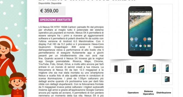 LG Nexus 5X H791 16GB Carbon   Gli Stockisti  Smartphone  cellulari  tablet  accessori telefonia  dual sim e tanto altro
