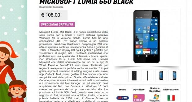 Microsoft Lumia 550 Black   Gli Stockisti  Smartphone  cellulari  tablet  accessori telefonia  dual sim e tanto altro