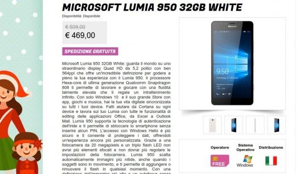 Microsoft Lumia 950 32GB White   Gli Stockisti  Smartphone  cellulari  tablet  accessori telefonia  dual sim e tanto altro