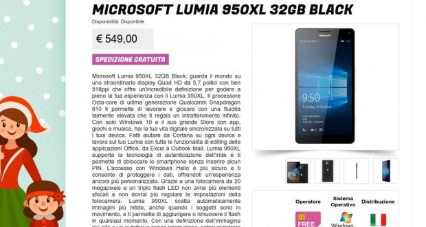 Microsoft Lumia 950XL 32GB Black   Gli Stockisti  Smartphone  cellulari  tablet  accessori telefonia  dual sim e tanto altro