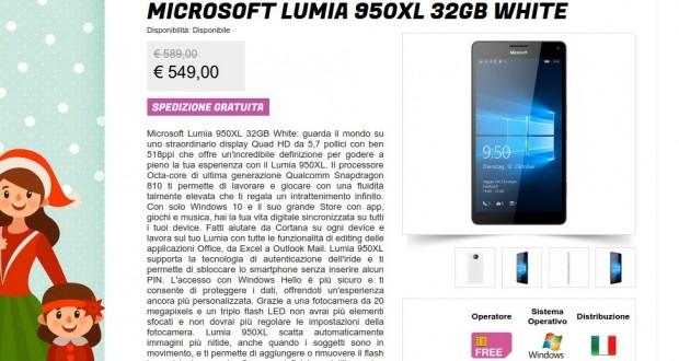 Microsoft Lumia 950XL 32GB White   Gli Stockisti  Smartphone  cellulari  tablet  accessori telefonia  dual sim e tanto altro