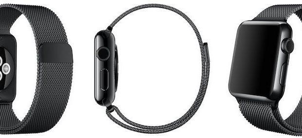 Apple Watch cinturino maglia Milanese in Black Space