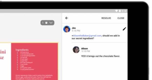 Google Docs commenti in tempo reale