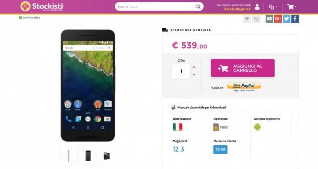 Huawei Nexus 6P 32GB Graphite   Gli Stockisti  Smartphone  cellulari  tablet  accessori telefonia  dual sim e tanto altro