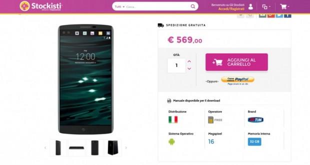 LG V10 H960A Space Black   Gli Stockisti  Smartphone  cellulari  tablet  accessori telefonia  dual sim e tanto altro