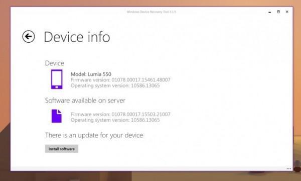 Microsoft Lumia 550 riceve un aggiornamento firmware