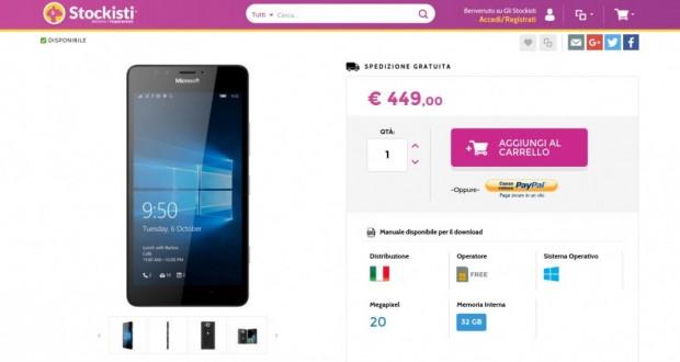 Microsoft Lumia 950 32GB Black   Gli Stockisti  Smartphone  cellulari  tablet  accessori telefonia  dual sim e tanto altro