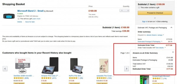 Amazon.co.uk Shopping Basket