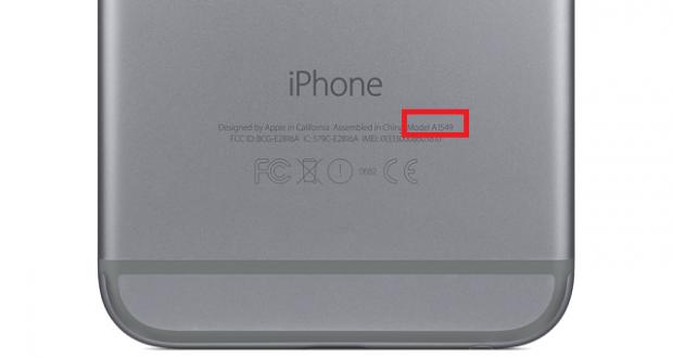 Codice modello iPhone