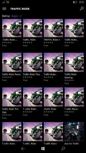 Traffic Raider app fake Windows 10 Mobile