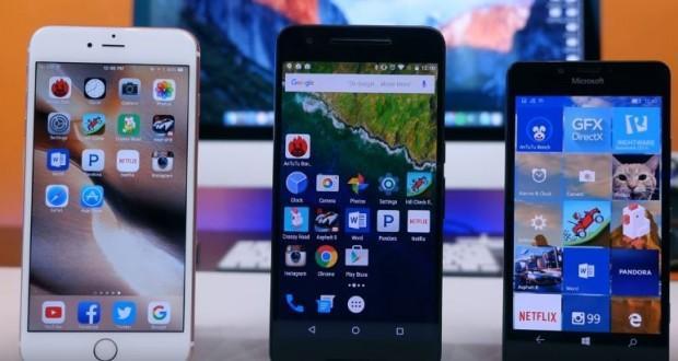 iPhone 6s Plus vs Lumia 950 vs Nexus 6P
