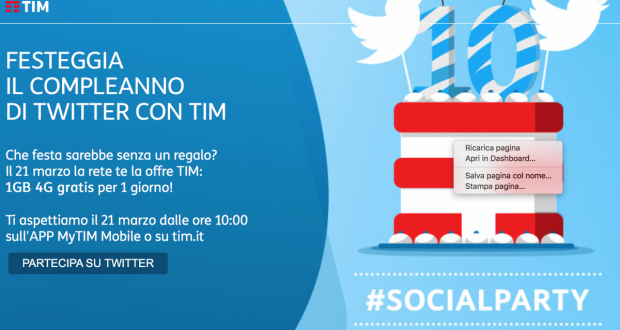 10 compleanni Twitter TIM