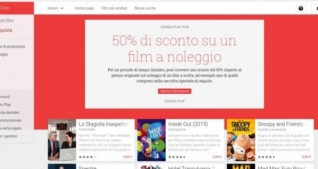 50  di sconto su un film a noleggio   Film su Google Play