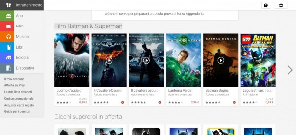 Batman contro Superman   Google Play