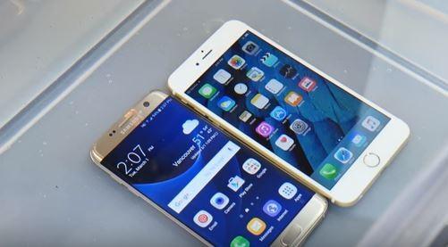 Samsung Galaxy S7 vs iPhone 6S in un test di resistenza all'acqua