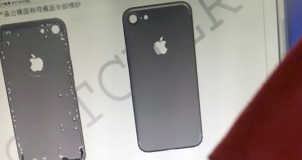 iPhone 7 scocca posteriore leaked
