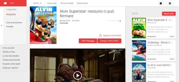 Alvin Superstar  nessuno ci può fermare   Film su Google Play