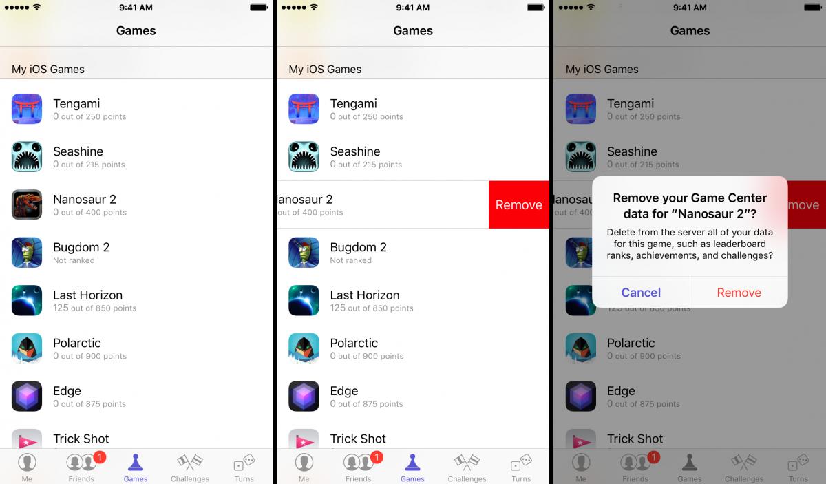 Come rimuovere giochi dal Game Center di iOS