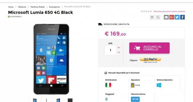 Microsoft Lumia 650 4G Black   Gli Stockisti  Smartphone  cellulari  tablet  accessori telefonia  dual sim e tanto altro