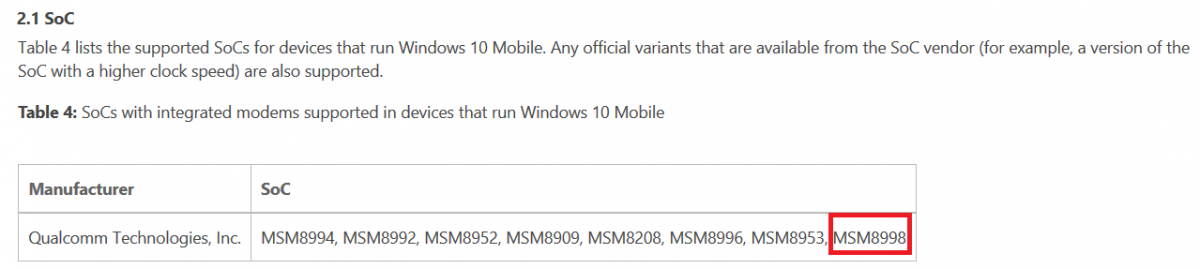 Qualcomm Snapdragon 830 già supportato da Windows 10 Mobile