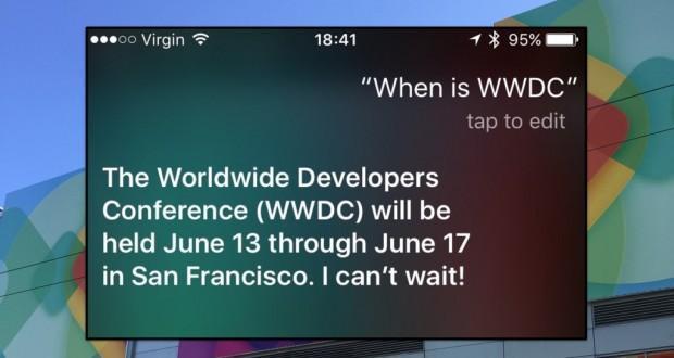 WWDC 16 Siri conferma la data