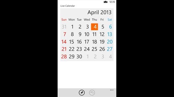 live calendar