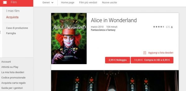 Alice in Wonderland   Film su Google Play