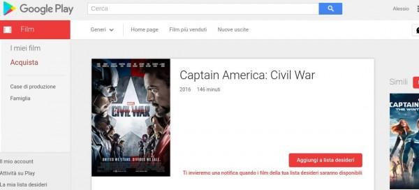 Captain America  Civil War   Film su Google Play