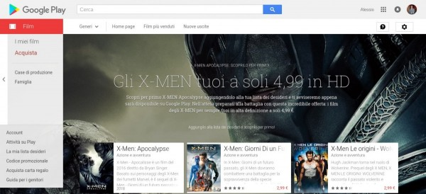Gli X MEN tuoi a soli 4 99 in HD   Film su Google Play