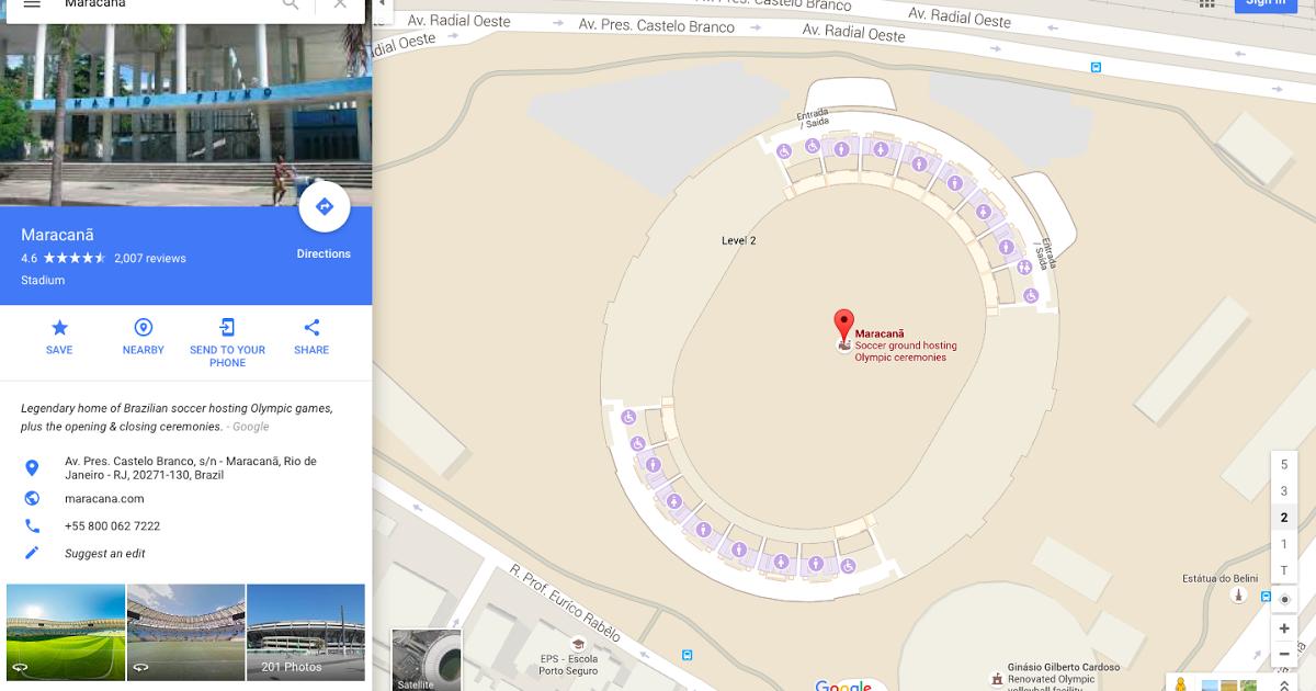 Google Maps ci permette di visitare le 25 sedi delle Olimpiadi di Rio de Janeiro