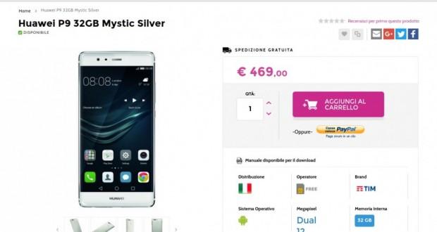 Huawei P9 32GB Mystic Silver   Gli Stockisti  Smartphone  cellulari  tablet  accessori telefonia  dual sim e tanto altro