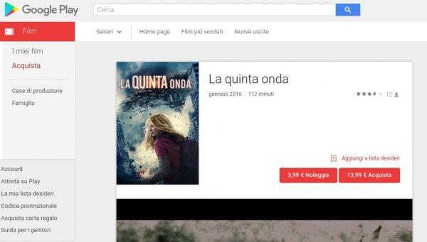 La quinta onda   Film su Google Play