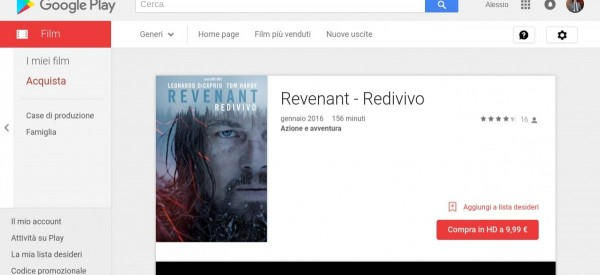 Revenant   Redivivo   Film su Google Play