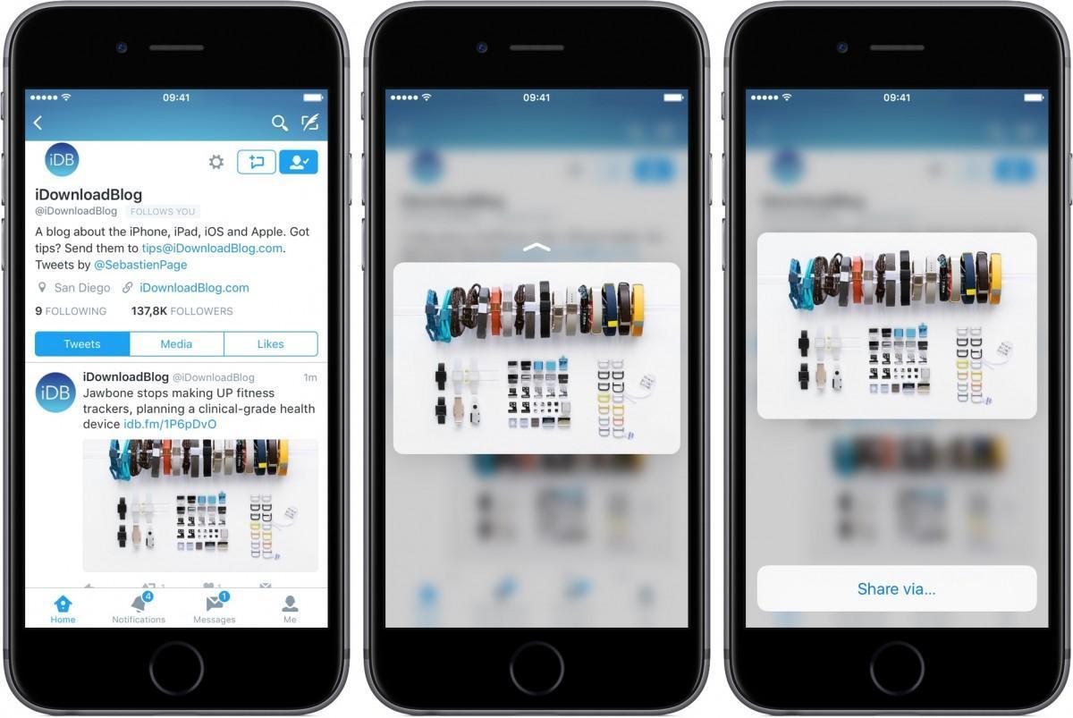 Twitter per iOS 3D Touch (1)