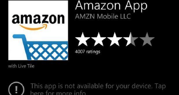 Amazon app non installabile Windows Store
