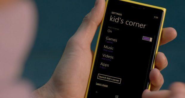 Angolo dei bambini Windows 10 Mobile