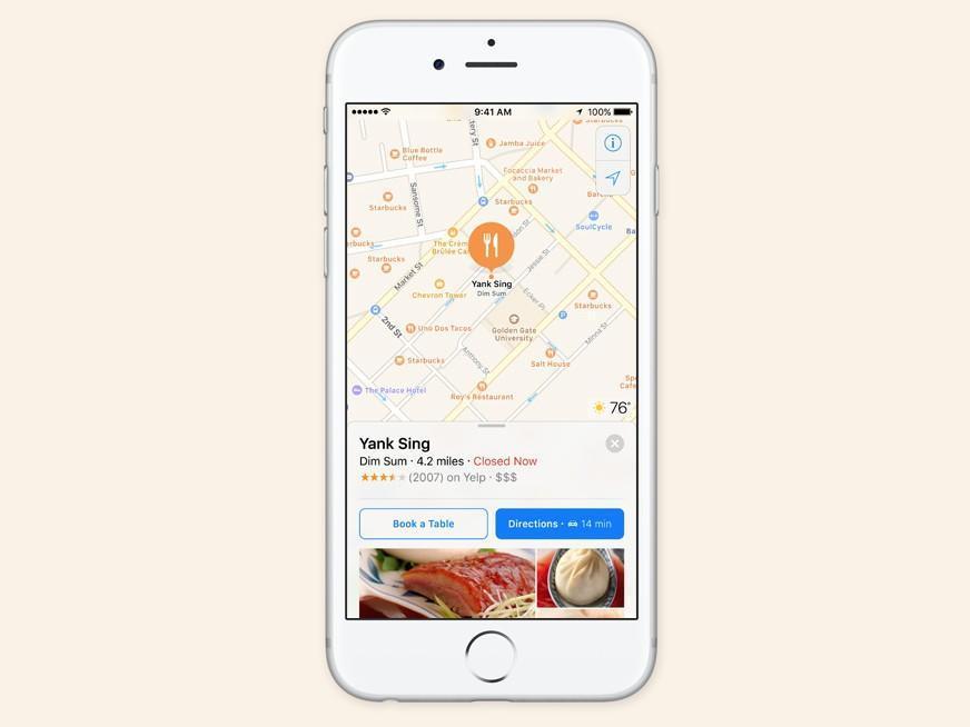 Apple Maps iOS 10