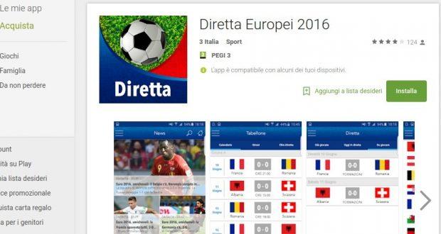 Diretta Europei 2016   App Android su Google Play