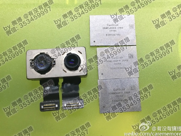 Dual-camera-module-and-SanDisk-256GB-memory-chips