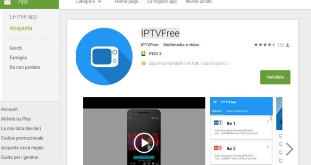 IPTVFree   App Android su Google Play