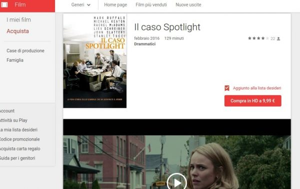 Il caso Spotlight   Film su Google Play