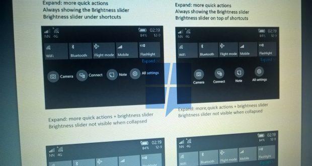 Action Center Microsoft Windows 10 Mobile