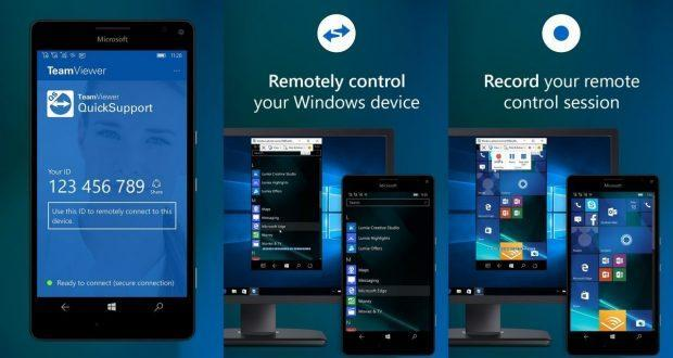 TeamViewer QuickSupport Windows 10 Mobile