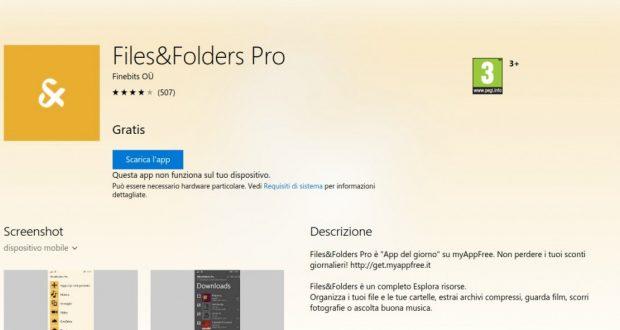 Files Folders Pro – App di Windows in Microsoft Store
